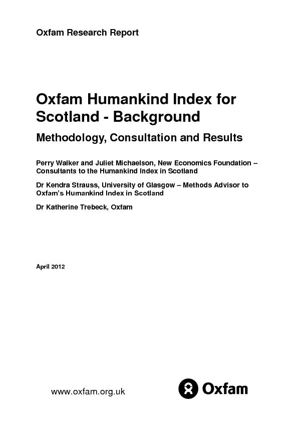 Oxfam Research Report