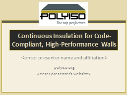 Continuous Insulation for Code-Compliant, High-Performance