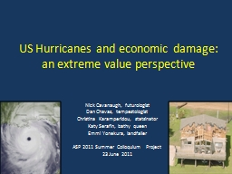 US Hurricanes and economic damage: an extreme value perspec