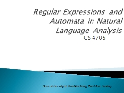 Regular Expressions and Automata in Natural Language Analys