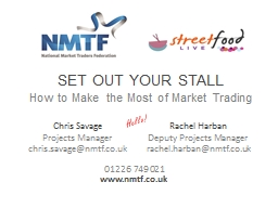 SET OUT YOUR STALL