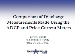 Comparison of Discharge Measurements Made Using the ADCP an PowerPoint PPT Presentation