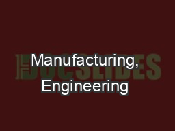 Manufacturing, Engineering & Technology, Fifth Edition,