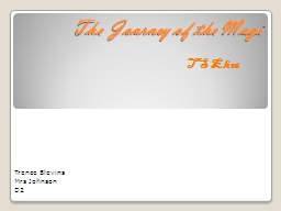 The Journey of the Magi PowerPoint PPT Presentation