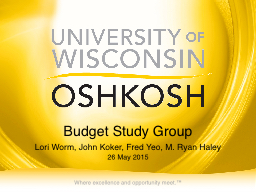 Budget Study Group PowerPoint PPT Presentation