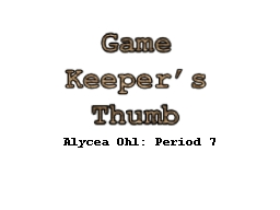 Alycea Ohl: Period 7