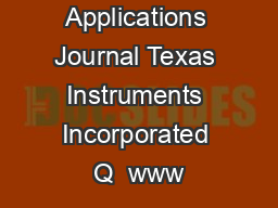 Analog Applications Journal Texas Instruments Incorporated Q  www