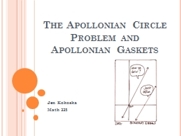The Apollonian Circle Problem PowerPoint PPT Presentation