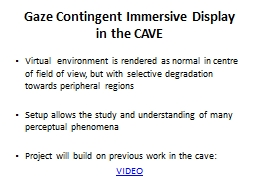 Virtual  environment is rendered as normal in centre of fie