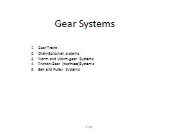Gear Systems