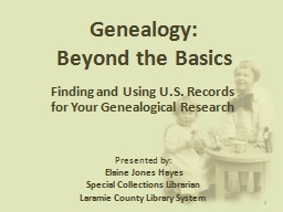 Genealogy: PowerPoint Presentation, PPT - DocSlides