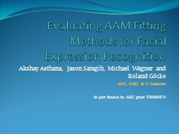 Evaluating AAM Fitting Methods for Facial Expression Recogn