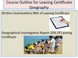 Course Outline for Leaving Certificate Geography