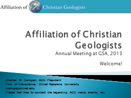 Affiliation of Christian Geologists