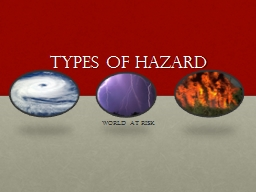 TYPES OF HAZARD