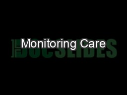 Monitoring Care