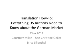 Translation How-To:
