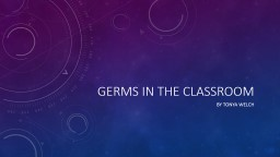 Germs in the classroom