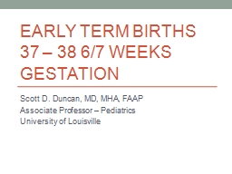 Early Term Births PowerPoint PPT Presentation