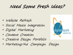 Need Some Fresh Ideas? PowerPoint PPT Presentation