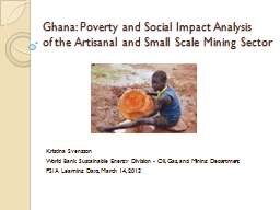 Ghana: Poverty and Social Impact Analysis
