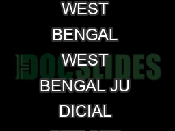 Page of PUBLIC SERVICE COMMISSION WEST BENGAL WEST BENGAL JU DICIAL SERVICE EXAMINATION  ADVERTISEMENT NO