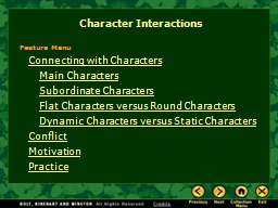 Connecting with Characters PowerPoint PPT Presentation