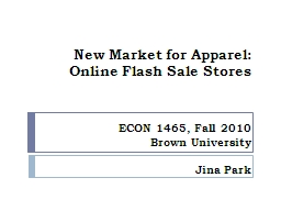 New Market for Apparel: PowerPoint PPT Presentation
