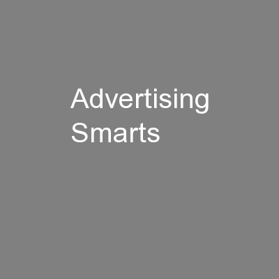 Advertising Smarts