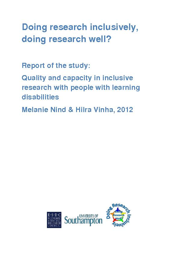 Doing research inclusively,