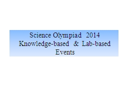Science Olympiad 2014