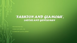 'fashion AND Glamour',