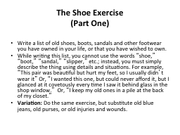 The Shoe Exercise