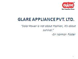 GLARE APPLIANCE PVT. LTD.