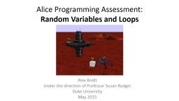 Alice Programming Assessment: