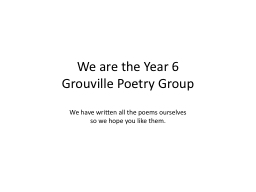 We are the Year 6