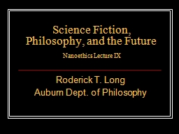 Science Fiction, Philosophy, and the Future