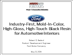 Industry-First, Mold-In-Color
