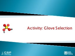Activity: Glove Selection PowerPoint PPT Presentation