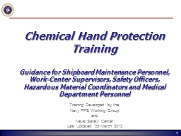 Chemical Hand Protection Training