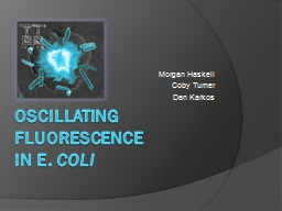 Oscillating Fluorescence PowerPoint PPT Presentation
