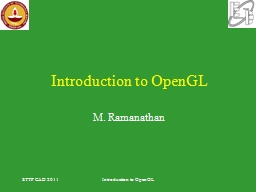 Introduction to OpenGL PowerPoint PPT Presentation