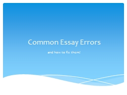 common app essay errors