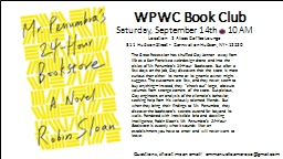 WPWC Book Club PowerPoint PPT Presentation
