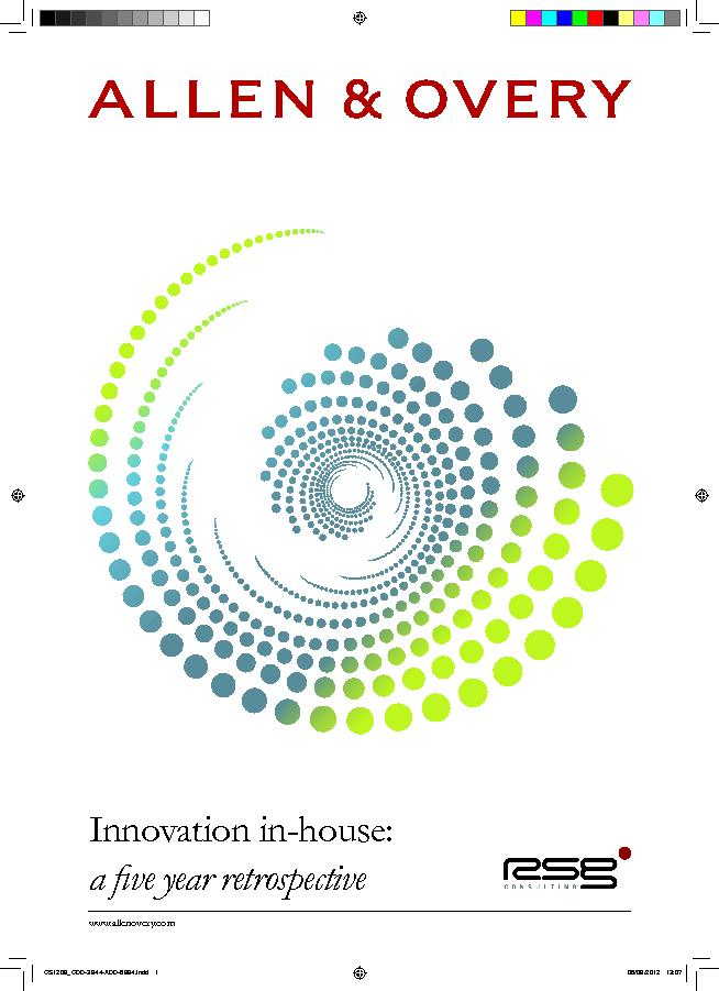Innovation in-house: a �ve year retrospective
