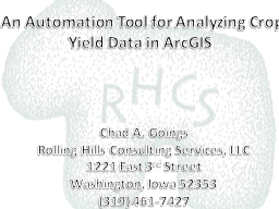 An Automation Tool for Analyzing Crop