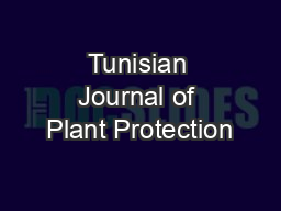 Tunisian Journal of Plant Protection