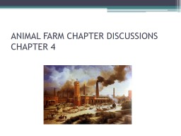 ANIMAL FARM CHAPTER DISCUSSIONS