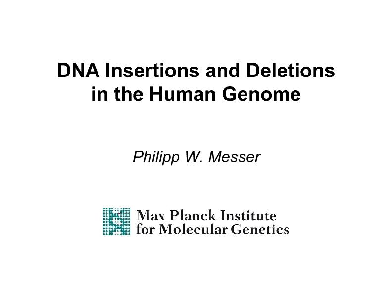 DNA Insertions and Deletions