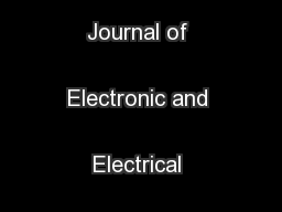 International Journal of Electronic and Electrical Engineering. ...
